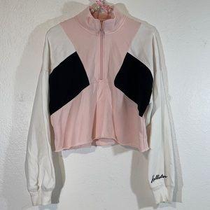 Hollister Cropped Long Sleeve Sweater Medium